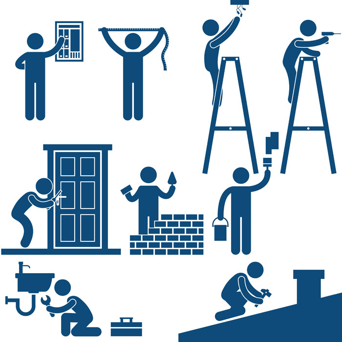 Plumbers, electricians, carpenters and handymen
